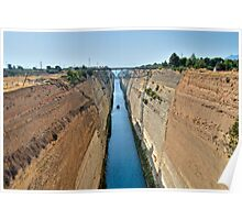 Corinth Canal Poster