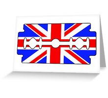 UK Razor blade Greeting Card
