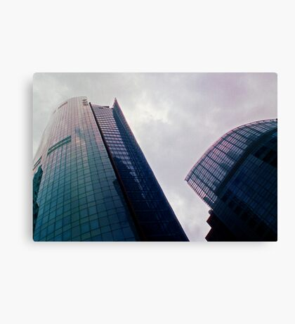 Big City Skyline........the pastel set  # five Canvas Print