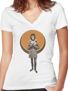 Planet Of The Apes Mod Style Women's Fitted V-Neck T-Shirt