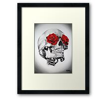 Rose Eye Skull Framed Print