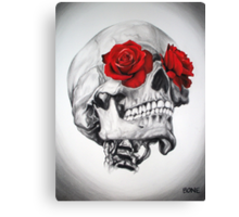 Rose Eye Skull Canvas Print