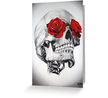 Rose Eye Skull Greeting Card