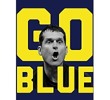 GO BLUE - Harbaugh  Photographic Print