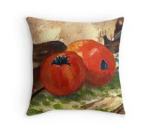 Vegetables wash painting Throw Pillow