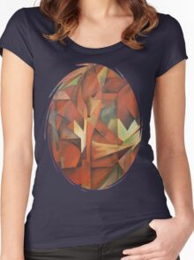 """Foxes"" -  Homage to Franz Marc (1913)     Women's Fitted Scoop T-Shirt"