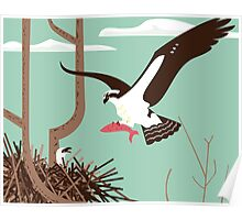 At the Osprey Nest Poster