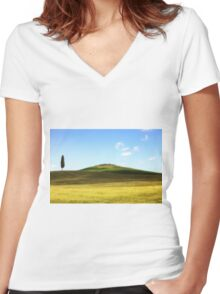Tuscany Women's Fitted V-Neck T-Shirt