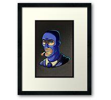 Blue Spy! Print Framed Print