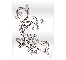 Abstract Floral Ornament 2 Poster