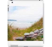 stone wall shelter on a beautiful Irish beach iPad Case/Skin