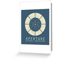 Aperture Science Old Logo With Text Greeting Card