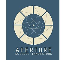 Aperture Science Old Logo With Text Photographic Print