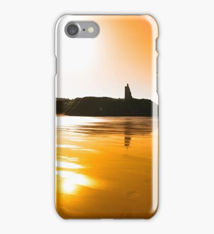 sunset view of the castle beach and cliffs in Ballybunion iPhone Case/Skin