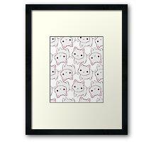 White Kitty Framed Print