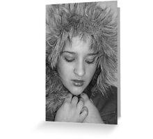 Fur Hood Greeting Card