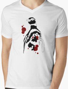 Magellanic Penguin Design Mens V-Neck T-Shirt