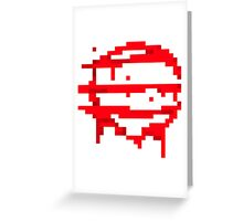 Hotline Miami: 50 Blessings logo Greeting Card