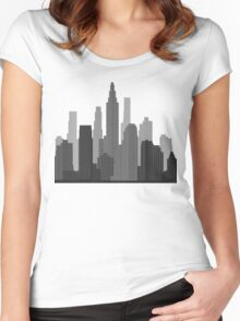 Downtown Grey Women's Fitted Scoop T-Shirt