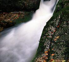 Waterfall on Jedlova brook by Lenka