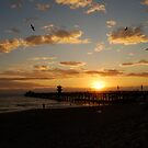 Sunset at Seal Beach by Pamela Hubbard