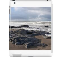 the black rocks on Ballybunion beach iPad Case/Skin