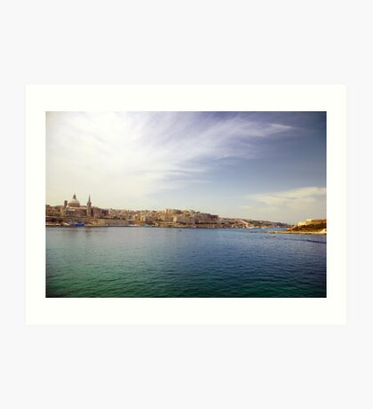 Valletta from Sliema Harbour Art Print