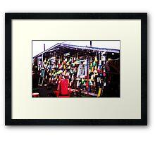 CAPE COD BUOYS $10 Framed Print