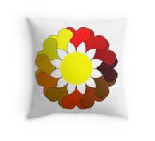 Multi colored flower Throw Pillow