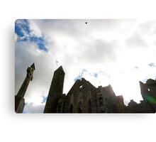 the historic rock of Cashel landmark Canvas Print