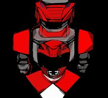 Red Ranger Tyranno by gokaiyellow