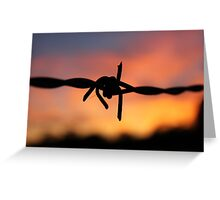 Barbed Silhouette Greeting Card