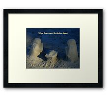 The Meaning Of Christmas Framed Print