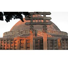Sanchi stupa with the ornamented arch Photographic Print
