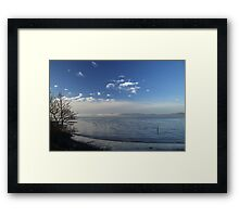 Winter tide Framed Print