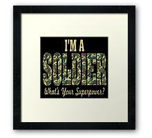 Soldier Superpower Camo Framed Print