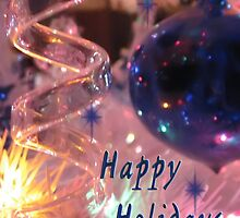 Happy Holidays Blue Ornament by TLCGraphics