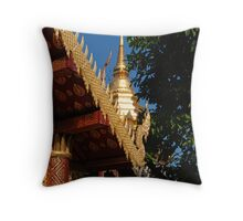 Gilded Temple Throw Pillow