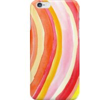 Watercolor curves iPhone Case/Skin