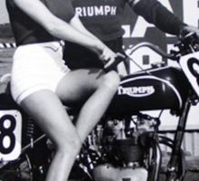 Triumph Bike with Model Sticker