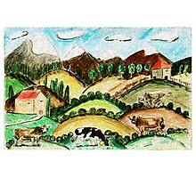 Cow Land Photographic Print