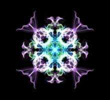 Unfurling Iris Sticker