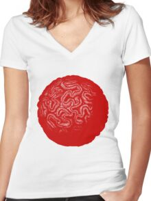 Star Coral Women's Fitted V-Neck T-Shirt