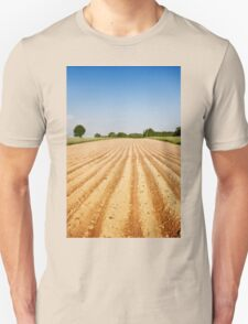 Ploughed agriculture field empty T-Shirt