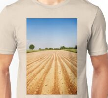 Ploughed agriculture field empty Unisex T-Shirt