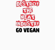 Destroy The Meat Industry: Go Vegan Womens Fitted T-Shirt