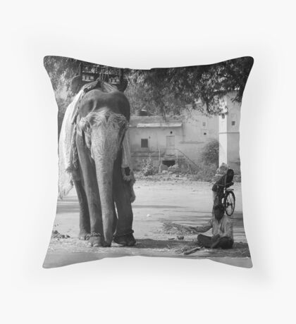 Me and My Big Friend Throw Pillow