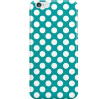 Teal and White Polka Dots iPhone Case/Skin