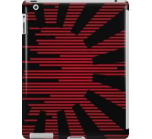 Black modern Japan Flag iPad Case/Skin