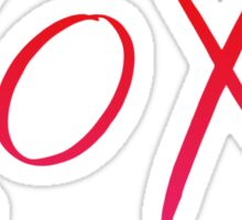Red and Pink Ombre XOXO Sticker